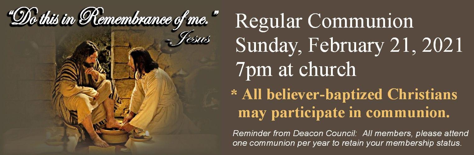 feb communion