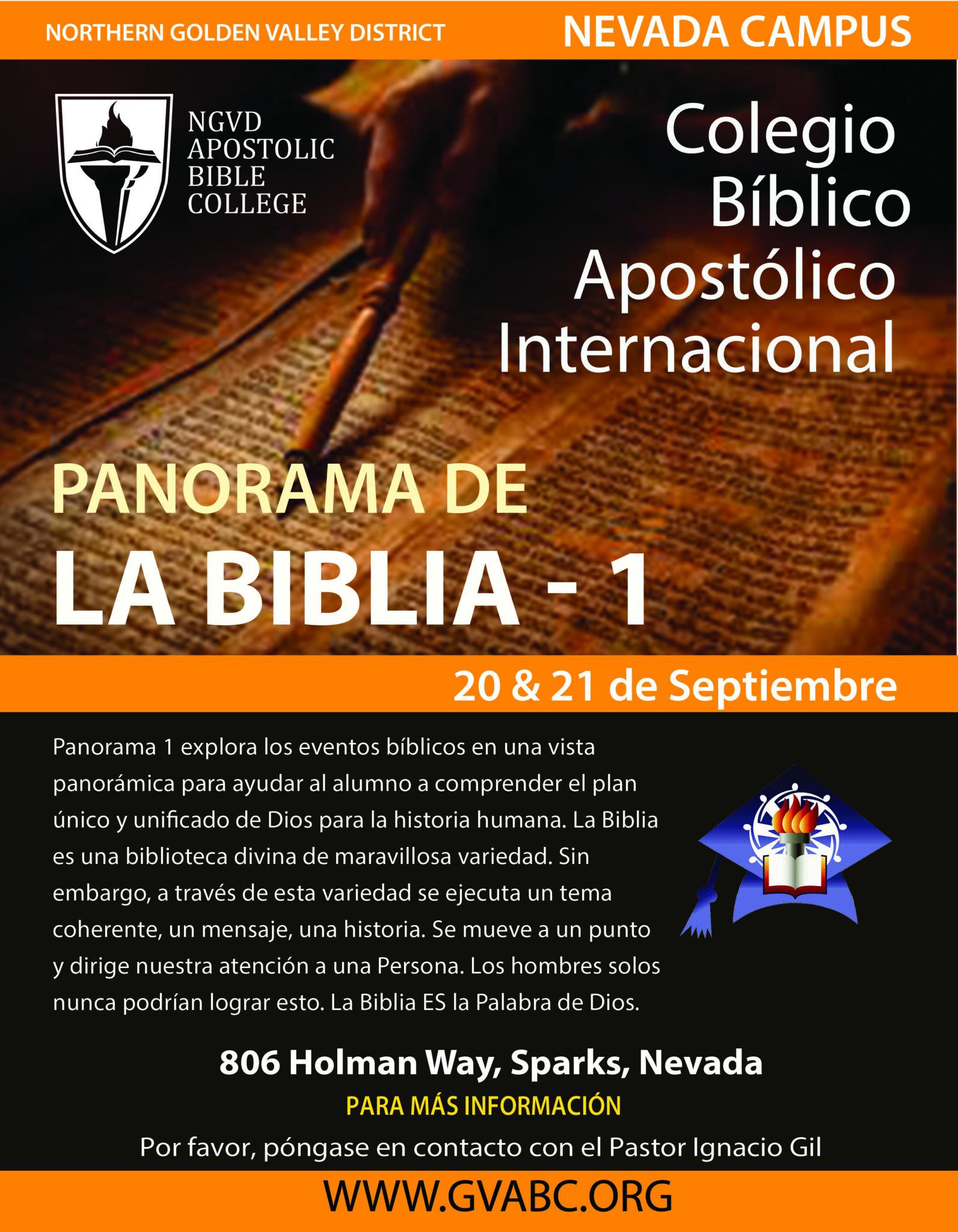 Northern Golden Valley District Apostolic Bible College