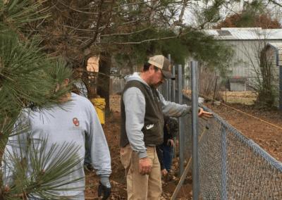 UMM building a fence