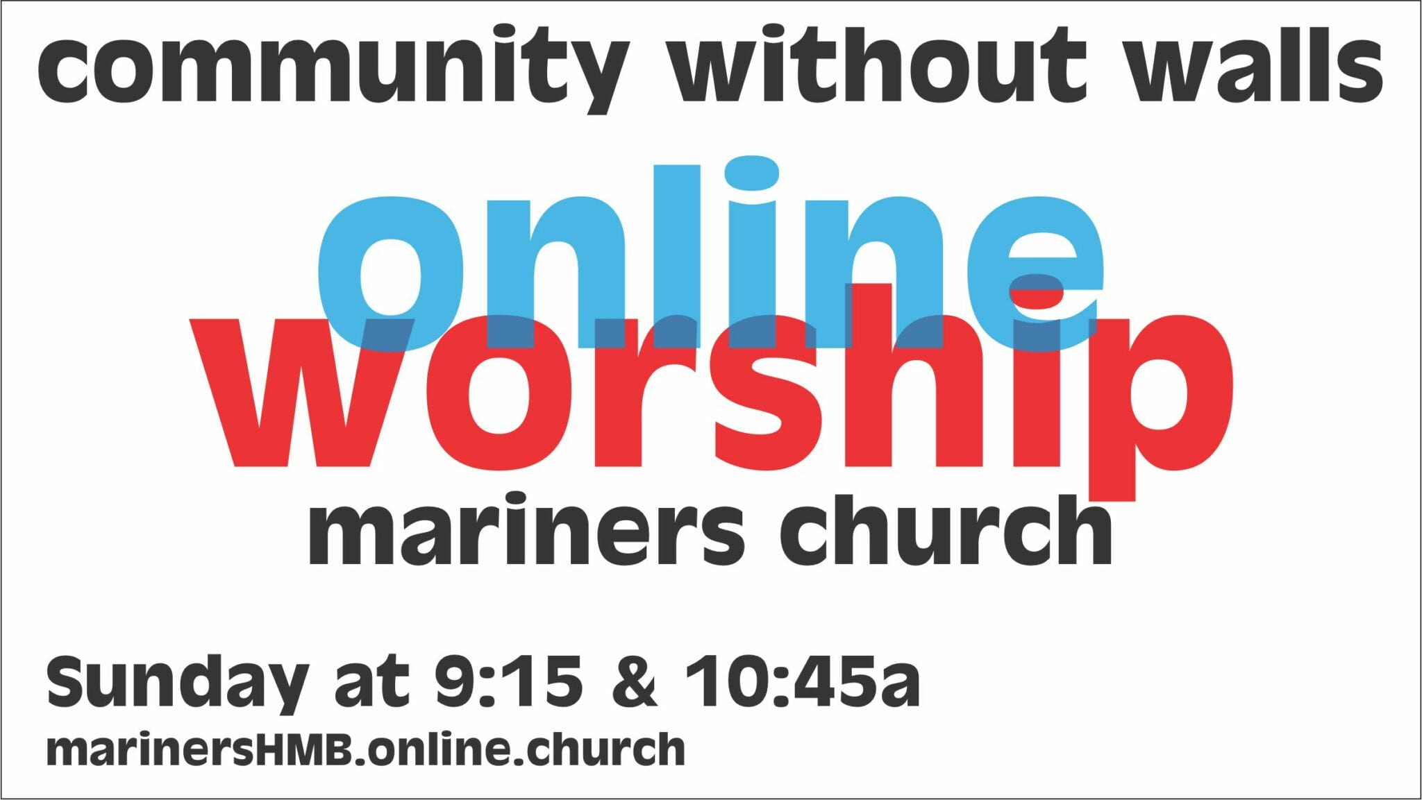 Interactive Worship Service ONLINE!