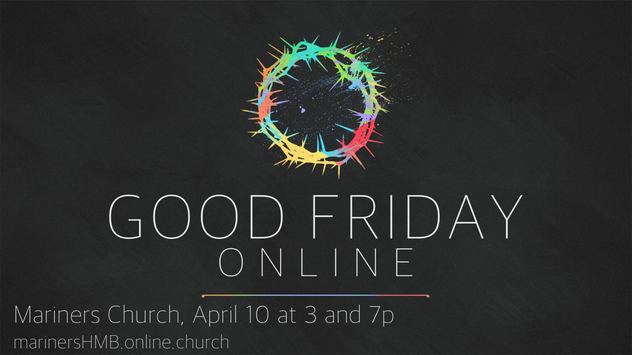 Good Friday Service ONLINE!