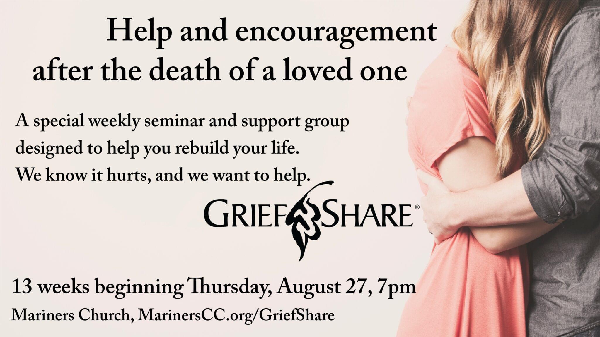 GriefShare Group Beginning August 27!
