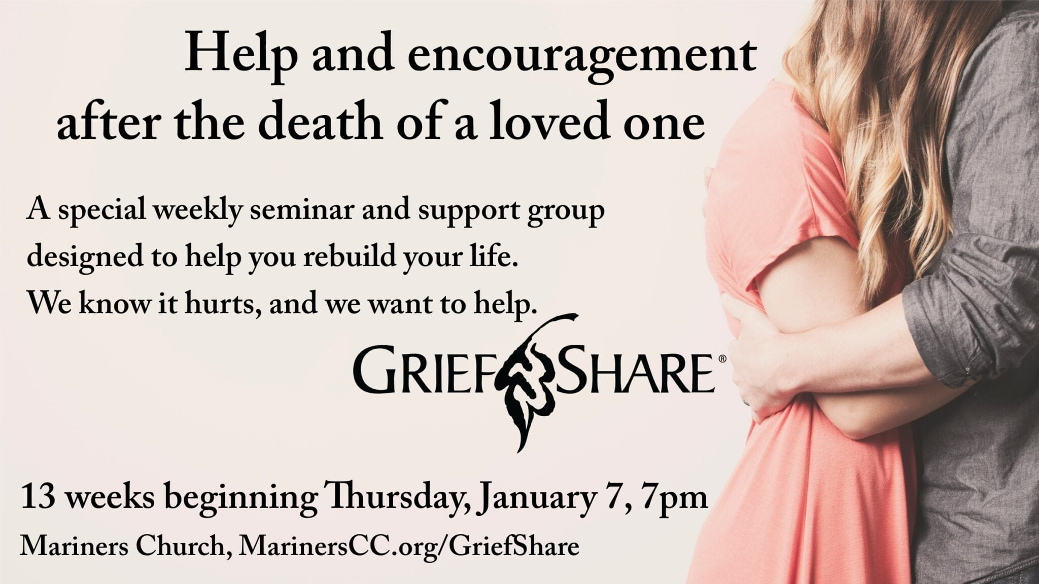 GriefShare Group Beginning January 7!