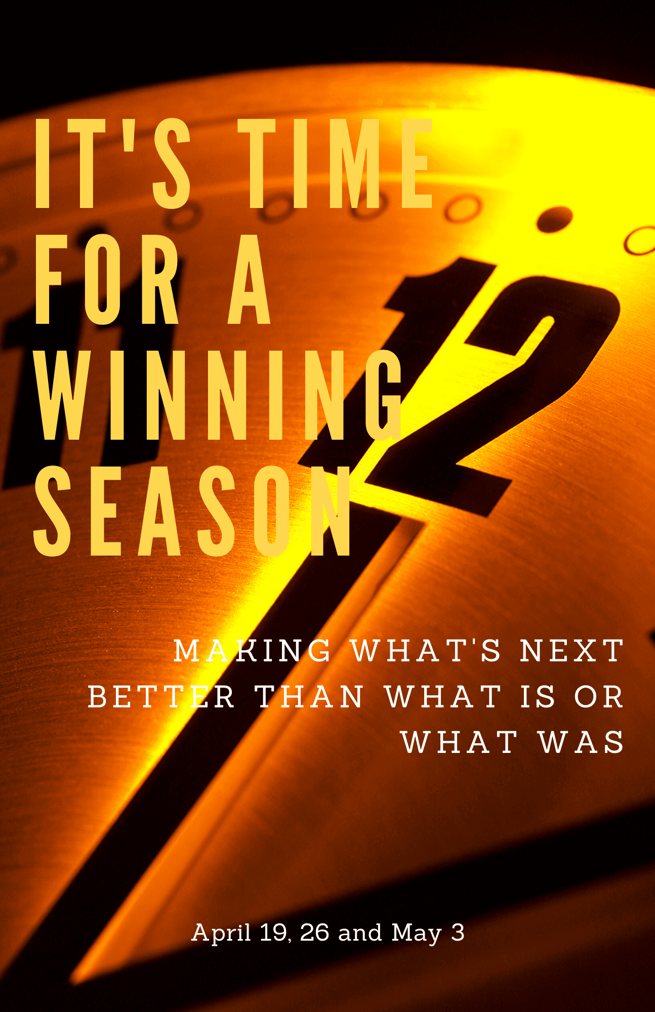 Preseason Steps To A Winning Season, Part One