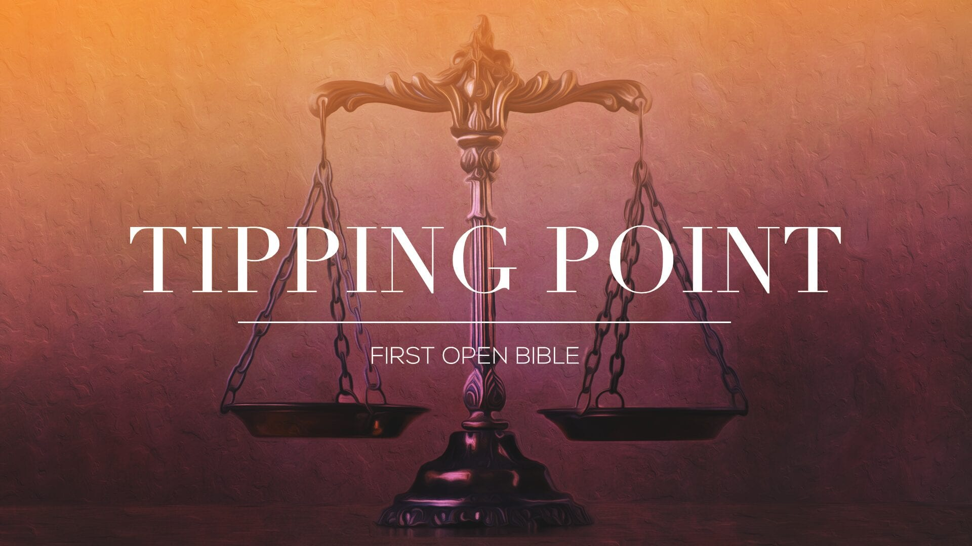 Tipping Point – Preparation for Prayer