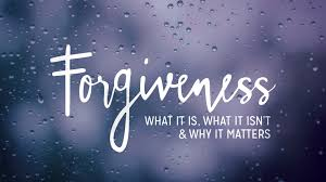 Forgiveness is an amazing thing