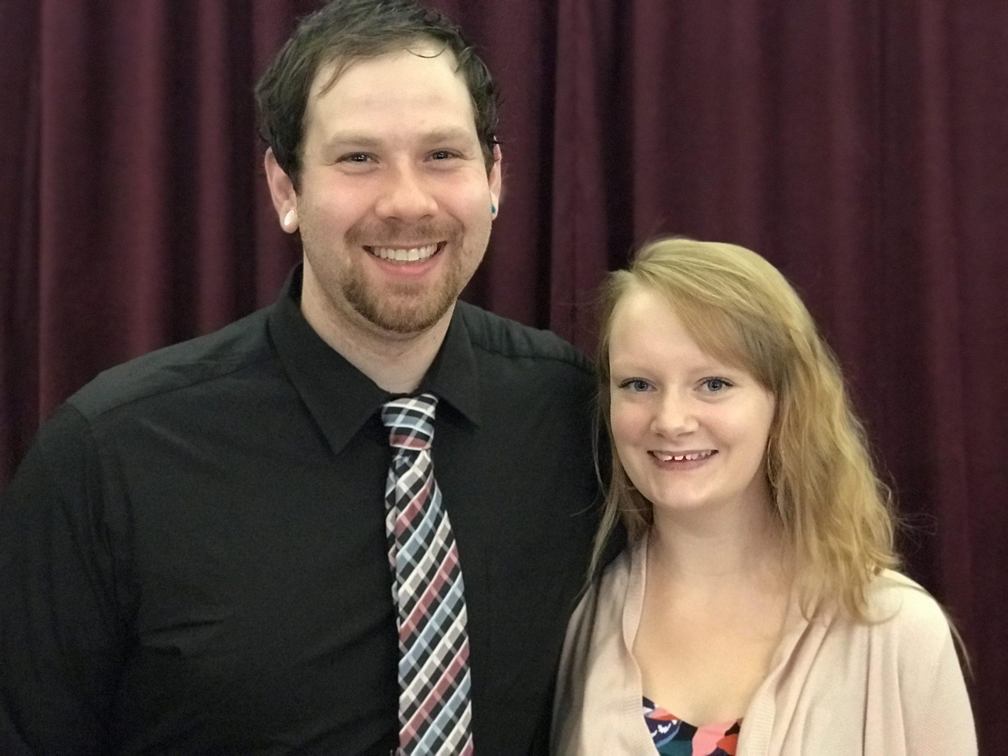Jeremiah Mace & Youth Pastor Kristin Mace.
