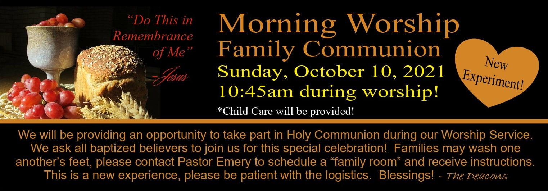 Family communion WOSHIP Service