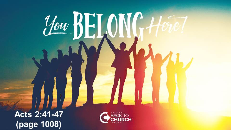 Back To Church Weekend – You Belong Here
