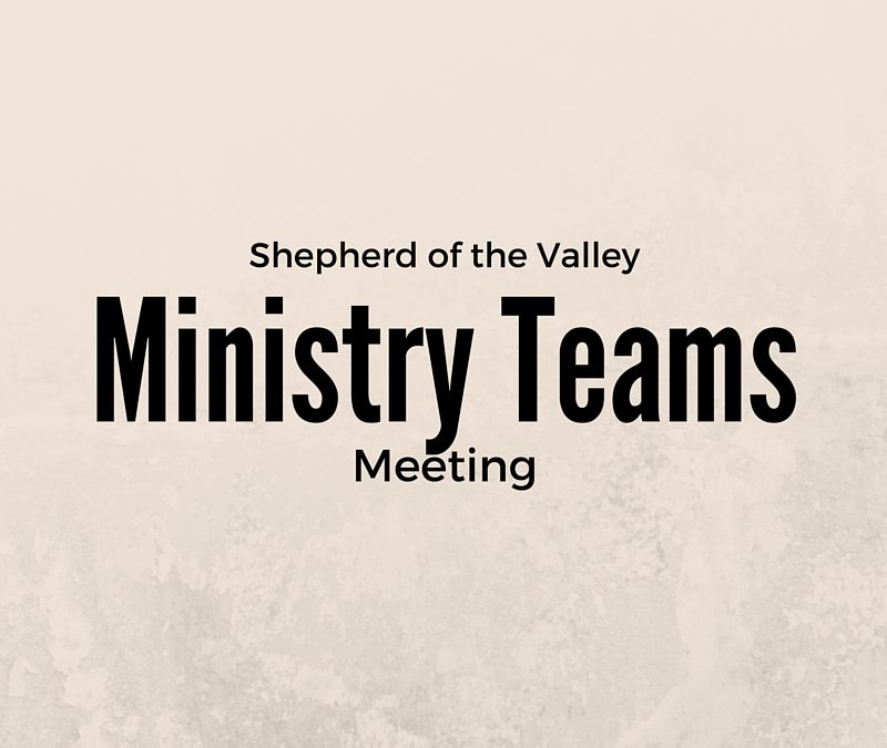 Ministry Teams Planning Meetings