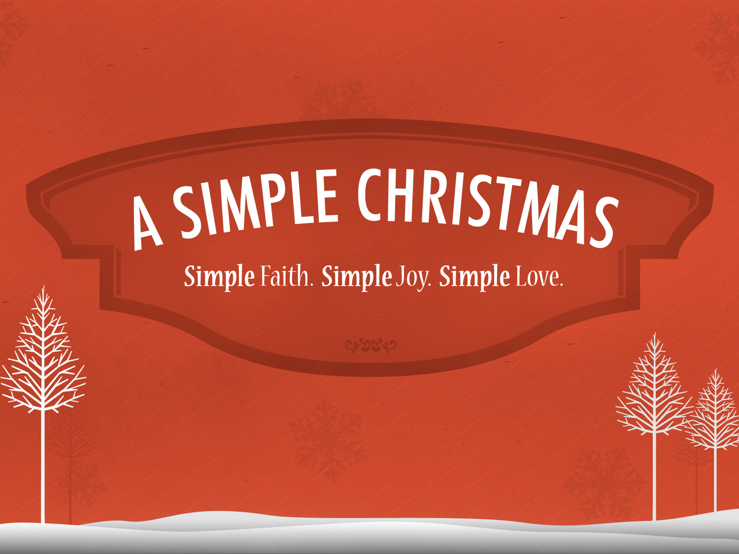 A Simple Christmas: Thankfulness