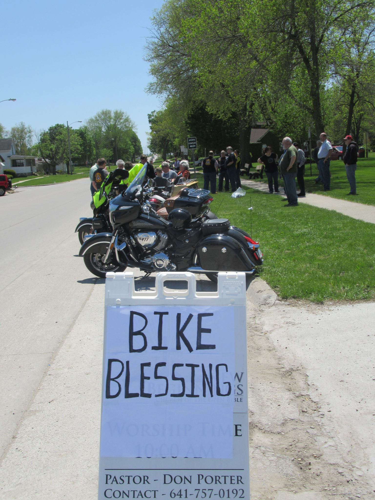 Blessing of the Bikes with CMA