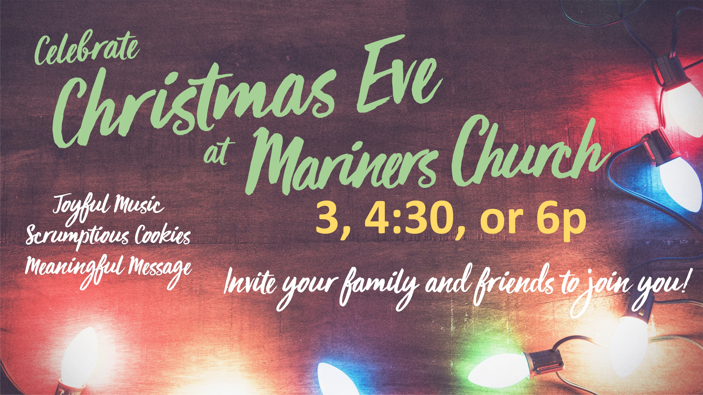 Celebrate Christmas Eve at Mariners!