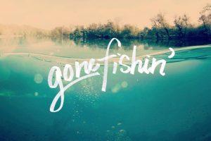 Gone Fishing' message series logo