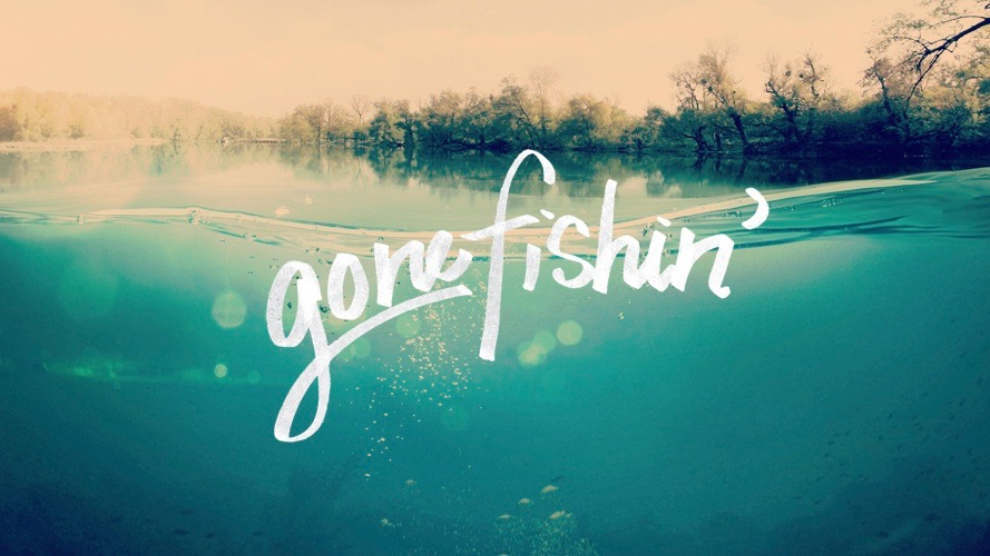 Gone Fishing' message series logo