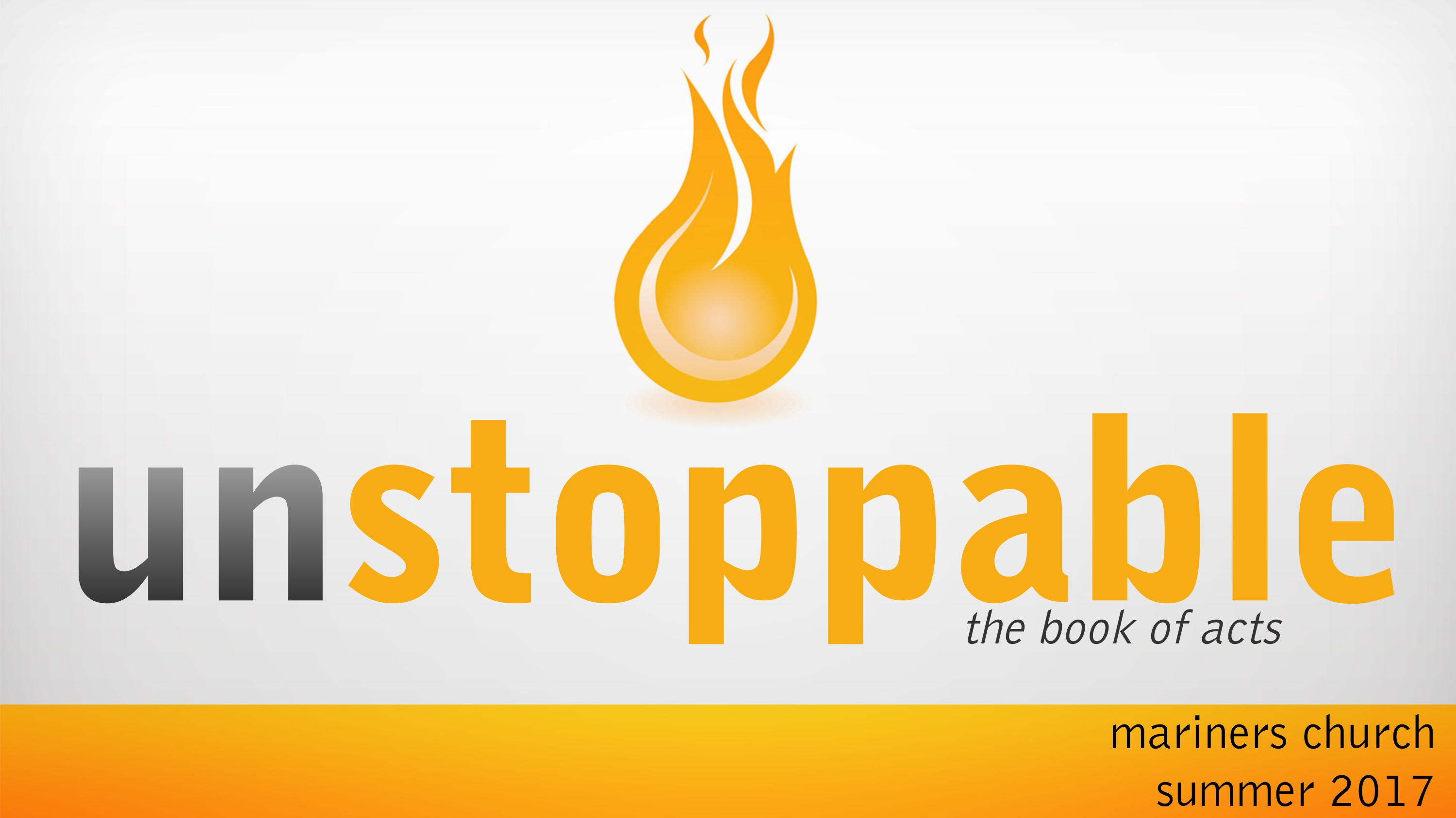 Unstoppable message series logo