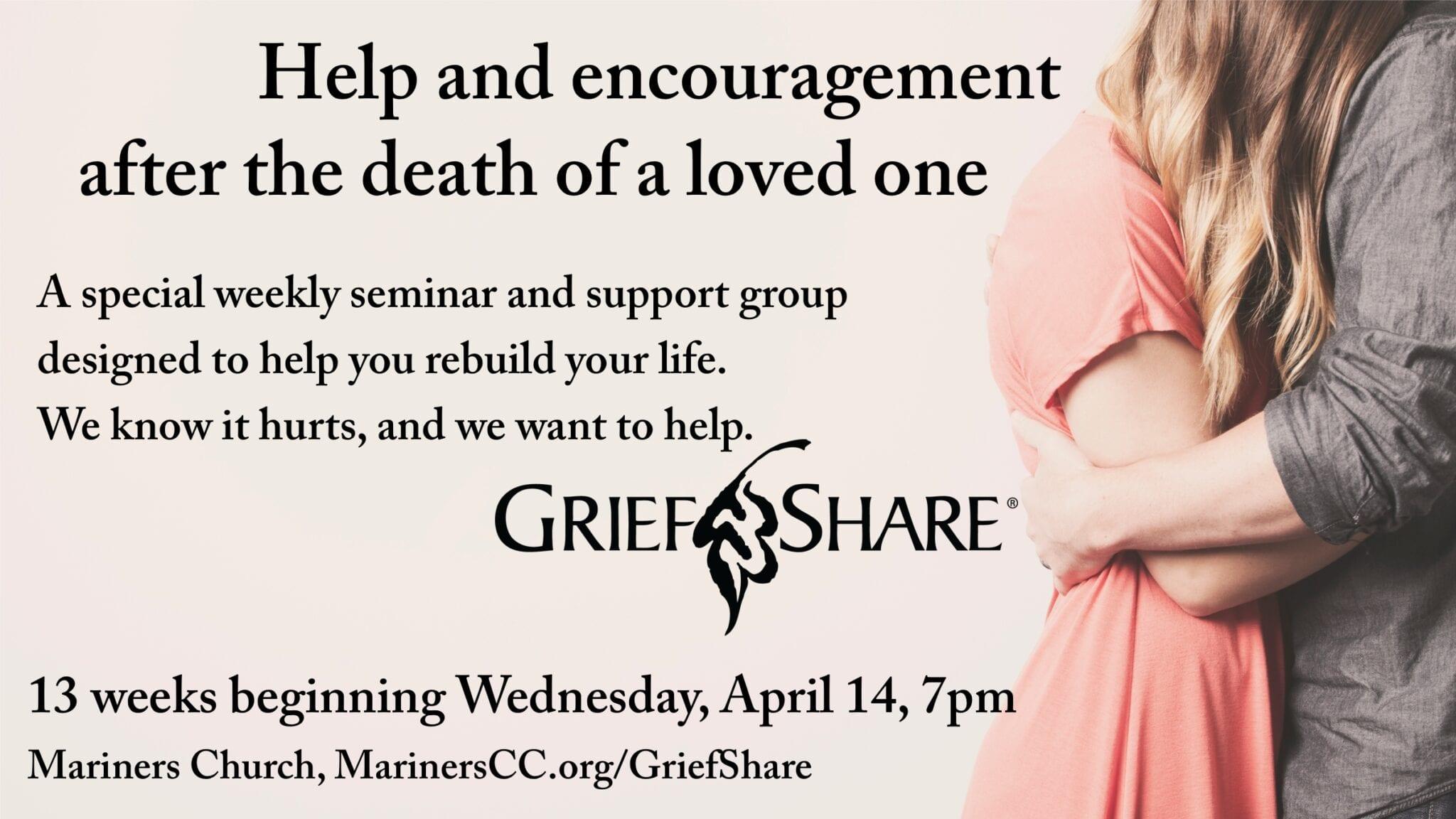GriefShare Group Beginning April 14!