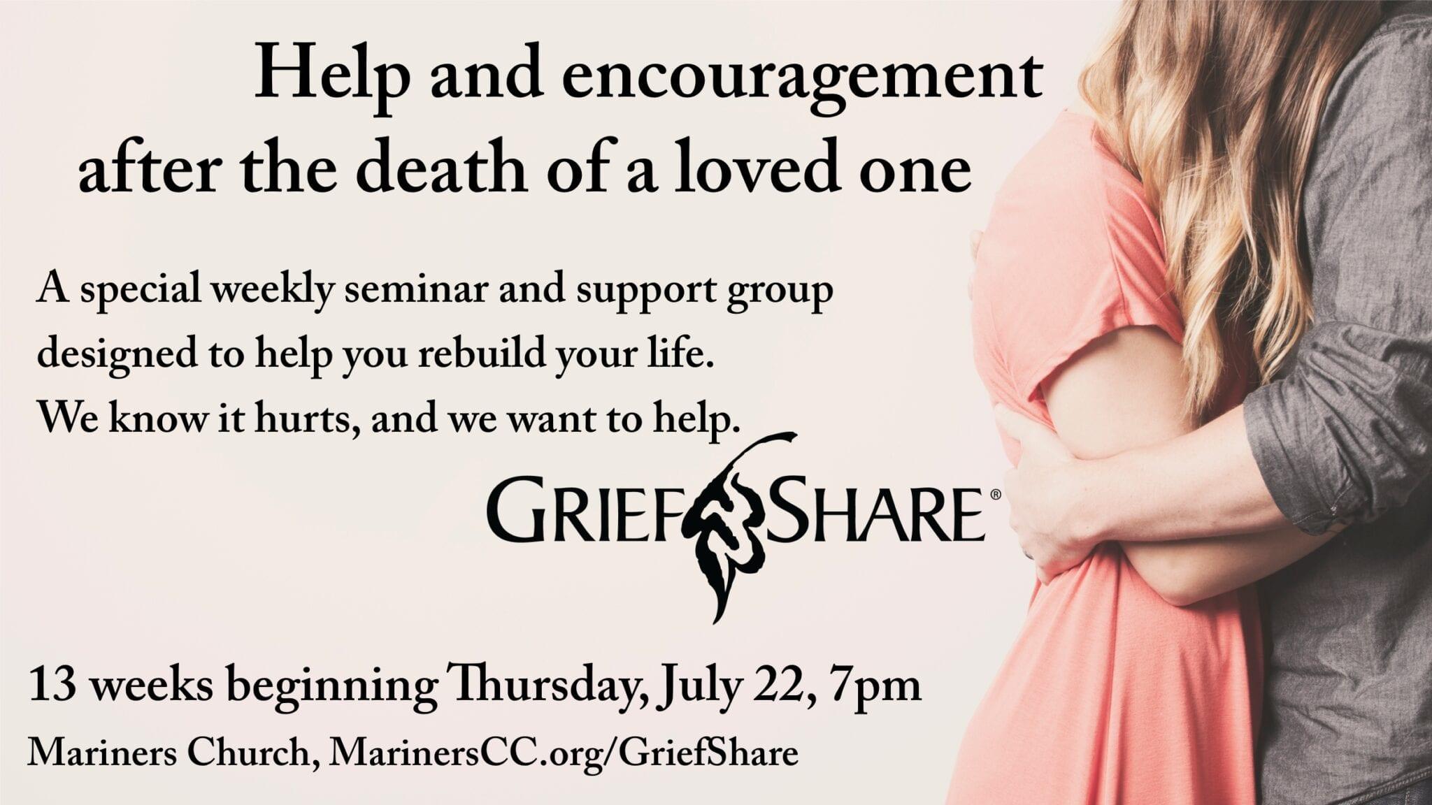 NEW GriefShare Group Beginning July 22!
